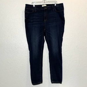 """Madewell 9"""" Mid Rise Skinny Jeans Plus Size 36"""